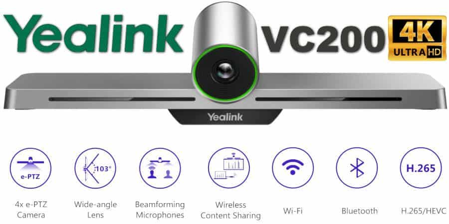Yealink vc200 video conferencing